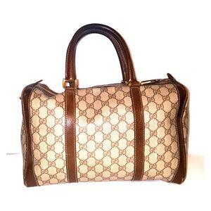 Vintage Gucci boston bag brown and tan